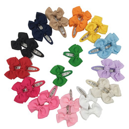 Wholesale Hair Bobby Pin Color - Xima 28pcs Grosgrain Ribbon Hair Bows Clips for Bobby Pin for Kids Hair Accessories Fashion Hairpin Hair Accessories