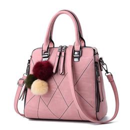 Wholesale Brand Name Messenger Bag - Women Bag Pu Leather Tote Brand Name Bag Ladies Handbag Lady Evening Bags Solid Female Messenger Bags Travel Fashion Sac 8 Colors