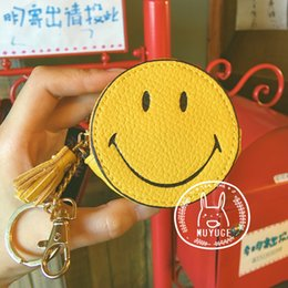 smiley coins Canada - Vananya Designer brand Women Wallet cartoon smiley Coin Purse Female leather Wallet Lady Purse rainbow no turn cloud battery ouch Money Bag
