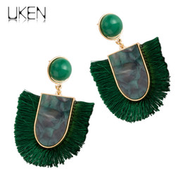Discount colorful chandeliers - Colorful Stylish Large Tassel Drop Earrings For Women Bohemian Big Pendent Earrings Vacation Accessories Jewelry UKEN