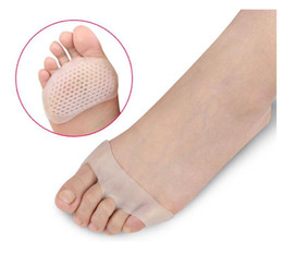 Wholesale toe separator pads - High Heels Slip Resistant Foot Pain Relief Pad For Women Cellular Breathable Soft SEBS Cushion Toe Separator