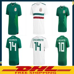 Wholesale Orange Fans - DHL Free shipping 2018 Mexico Soccer Jersey Home Away Player version fans version Size can be mixed batch