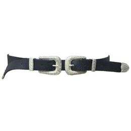 Wholesale Vintage Leather Waist Belt - Belt New Fashion Women Lady Vintage Boho Metal Leather Double Buckle Waist Belt Waistband