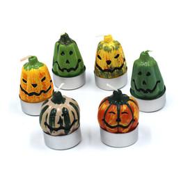 kaktus kerzen großhandel Rabatt Halloween Kürbis Kerze Dekoration Kerze Handwerk Kreative Urlaub Kerze Eine Packung mit 6 stücke