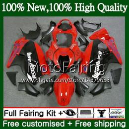 hayabusa negro carenados rojos Rebajas Carrocería para SUZUKI Hayabusa GSXR1300 96 07 2002 2003 2004 56MF58 GSX R1300 GSXR-1300 GSXR 1300 2005 2006 2007 Red black Fairing Carrocería