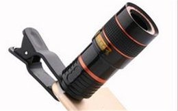 Wholesale phones parts - Long Focus Zoom Camera Lens Far Away High Definition Dark Angle Unniversal Optical Mobile Phone Len External With Eight Times Mirror 9gf jj
