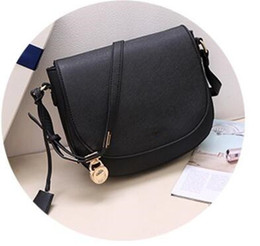 Wholesale pvc saddle - Free shipping 2018 women bags famous brand luxury lady PU leather handbags famous Designer saddle bags purse shoulder tote Bag 881