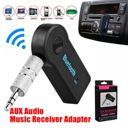 Wholesale bluetooth adapter speakers - Car Bluetooth Receiver Audio Music Receiver Adapter Auto AUX Streaming A2DP Bluetooth Receive Universal for Car Speaker Headphone