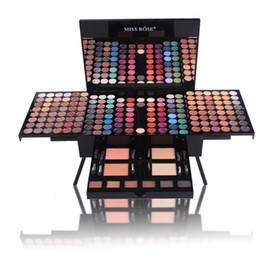 make-up-palette geschenk-set Rabatt MISS ROSE Klavier formte Makeup-Palette Lidschatten Kits 180 Farben Komplett Verfassungs-Satz Mattschimmer Blush Powder beste Geschenk