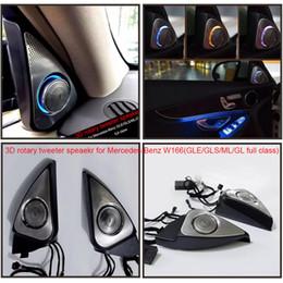 Wholesale Car Stereo Oem - 2pcs New arrival Hi-END car 3D Rotary Tweeter Speaker For Mercedes-Benz W166(GLE GLS ML GL) Front Left  Right Door OEM Burmester design
