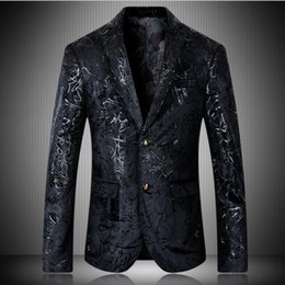 Wholesale Stage Clothes For Men - Mens Clothing Large Men Blazer Slim Fit Fancy Blazers For Men Stage Costumes For Singers Prom Blazers Mens Paisley Suit Jacket