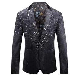 Бархатные куртки xxxl онлайн-2018 новое прибытие осень зима мода бархат печати повседневные костюмы мужчины, печать куртка мужчины, плюс размер M-XXXL