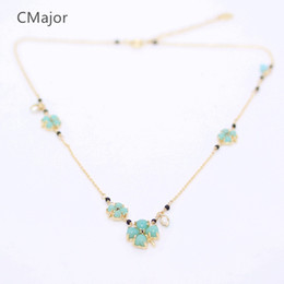 Wholesale Sterling Silver Chokers For Women - whole saleCMajor Sterling Silver Jewelry Four Leaves Clover Plant Short Necklaces St. Patrick's Day Gift For Women
