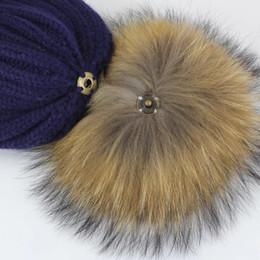 2019 accessori di pelliccia reali Pompon Vera Pelliccia 12cm FAI DA TE Nastro Volpe Raccoon Fur Pom Poms Balls Pompon Naturale Per Cappelli Borse Scarpe Accessori accessori di pelliccia reali economici