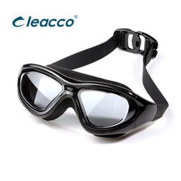 Wholesale misting fog - Professional Swim Goggles UV Anti fog Glasses Eyewear For Adult Men Or Women Big Frame Waterproof Prevent Mist Ultraviolet