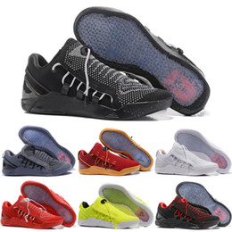 Wholesale Cheap New Basketball Shoes - 2018 New Mens KOBE A.D. NXT 12 men KB Volt White Black AD WOLF GREY Zoom Sport Shoes,discount Cheap Basketball Shoes