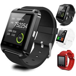 2019 notification bluetooth U8 Montre-bracelet Bluetooth Smartwatch Notification de message Montres intelligentes pour Android IOS Surveillance Smartwatch avec Retail Packag Top notification bluetooth pas cher