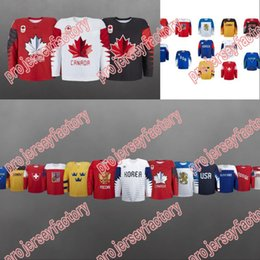 Wholesale Germany Red - men 2018 Winter Olympics Hockey Jersey USA Russia Korer Japan Czech Republic Sweden Germany Finland Slovensko Custom Ice Hockey Jerseys
