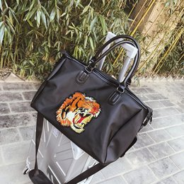 Wholesale Animal Print Duffel Bag - 2018 luxury designer tiger head Outdoor girl women Sport Gym Fitness Training Shoulder handbags Travel excursion backpack package 180126021