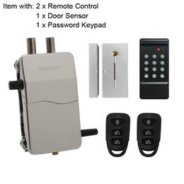 Wholesale electric lock remote control - Access Control Kits Wireless 433MHZ Electric Door Lock Security Door With Password Keypad Remote Control Lockey R-W39