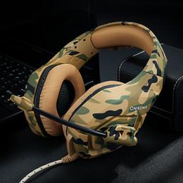 2019 collar de auriculares inalámbricos Es bueno cuando se usa. ONIKUMA K1 Casque Camouflage PS4 Xbox One Headset Mic Stereo Gaming Headphones para teléfono celular PC portátil