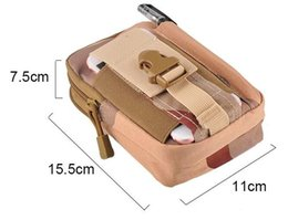 Wholesale Soccer Phone Cases - 2018 Unisex Outdoor Sport Casual Tactical Belt Loops Waist Bag Molle Military Waist Fanny Pack Smartphone Mobile Phone Case