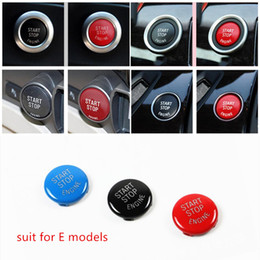 Wholesale engine start stop system - For BMW E90 E60 E70 E71 E84 Engine Start Stop Ring Keyless Start System Button Cover Trim Replace type A start button Decoration