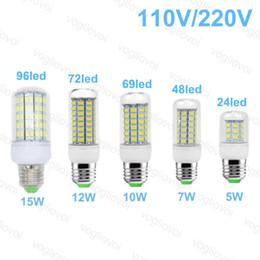 2019 b22 führte mais Geführte Maislicht 110V 220V 7W 10W 12W 15W LED beleuchtet für Schlafzimmer E27 GU10 B22 E14 rabatt b22 führte mais