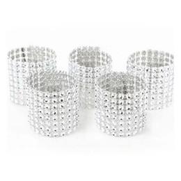 Decorações de casamento de diamantes de plástico on-line-Atacado 500 Pçs / lote Plástico diamante pacote de guardanapo de guardanapo de fivela de guardanapo de casamento do hotel suprimentos de decoração para casa