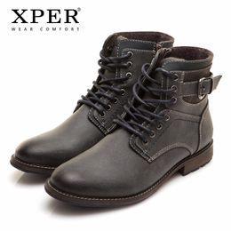 2019 botas de invierno para hombres Tamaño 41 ~ 46 Warm Fluff Botas de invierno estilo ruso hechos a mano cómodos hombres Winter Snow Boots # XHY11309BL botas de invierno para hombres baratos