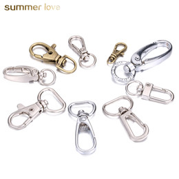 165bbaccd398 10Pcs Lot Keychain Lobster Swivel Clasps For Key Ring Metal Keychain Hook  Craft Key Rings Diy Key Chain Accessories