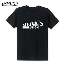 Wholesale Evolution Shorts - New 2018 Fashion Evolution Fishinger T Shirt Men Summer Fish Joke Fisherman Carp T shirts Funny Gift Cotton Short Sleeve T-shirt