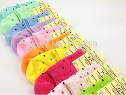 Wholesale Socks Slippers Warm Women - female lady girl's Soft Cotton Home warm Socks Cute Beautiful Loving sweet dot 7 color option wholesale