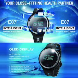 Wholesale Blackberry Kids - E07 Bluetooth Smart Wristband Message Call Reminder Passometer Fitness Tracker Bracelet for Android IOS band Waterproof