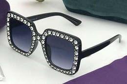 free diamond frame Promo Codes - newest BIG FRAME beach glasses diamond for women mens fashion sunglasses Driving Glasses wind Cool sun glasses BLACK sunglasses free ship