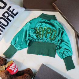 chaqueta verde para niños niña Rebajas 2018 Baby Girls Jacket El nuevo listado Summer Autumn Coat Niñas Chaquetas Abrigos Niños Verde Bordado Niños Ropa de abrigo Niños pequeños Ropa