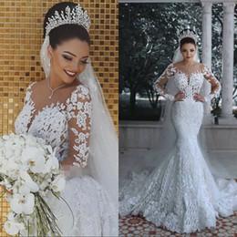 Merletto puro di matrimonio online-Abiti da sposa da sposa vintage con scollo a cuore e scollo a sirena