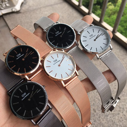 Wholesale shock gift - 2018 top luxury brand ladies fashion 40mm and 36mm 32mm steel belt style rose gold men's watch beautiful gift montre femme relojes