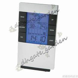 Deutschland Neue digitale blaue LED-Hintergrundbeleuchtung Temperatur-Feuchtemessgerät Thermometer Hygrometer Clock Versorgung