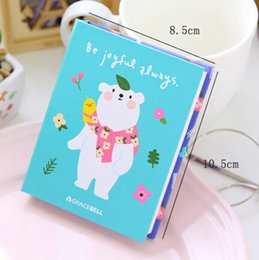 Wholesale notepad animal sticky - Korean cute Candy colors notepad sticky Animals flower girl England series notes this N times posted notebook WJ0166
