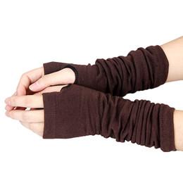 Deutschland Frauen Handschuhe stilvolle Hand Warmer Winter Handschuhe Frauen Arm häkeln stricken Faux Wolle Handschuh warme fingerlose Handschuhe Gants Femme cheap stylish gloves Versorgung