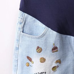 Vendita estiva di maternità online-Vendita calda 2017 Estate Nuovo arrivo maternità moda breve jeans denim pantaloni caldi per le donne incinte gravidanza abiti estivi