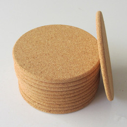 Wholesale Drink Coasters Mats - Classic Round Plain Cork Coasters Drink Wine Mats Cork Mats Drink Wine Mat 10cm Diameter For Wedding Party Gift ZA5628