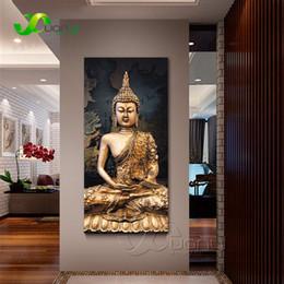 2019 olio astratto buddha 1 Pannello Astratto Buddha Tela Pittura A Olio Picture Parete Per Soggiorno Cuadros Buddha Decorazione Moderna Stampa Senza Cornice olio astratto buddha economici