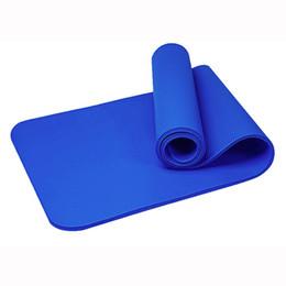 Stuoie di yoga eco online-Stuoia di yoga Durevole Eco Friendly Palestra ad alta densità Pad Impermeabile Mat Memory Foam NBR antiscivolo Yoga Pilates Mat Fitness