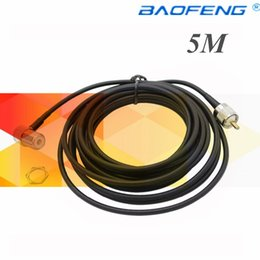 Wholesale Antenna Cable Coaxial - Cb antennaS0239connector KT-8900 Extension Cable for Car Radio (R) 5 M Coaxial Cable SO239 PL259 Antenna Extension CB Cabl