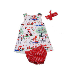 dc9eb4f161ff Newborn Toddler Girls Summer Animals Pirnt Clothes Kids Baby Girl Vest Dress +Pants Shorts Dot Rompers 3PCS Clothing Set Sunsuit