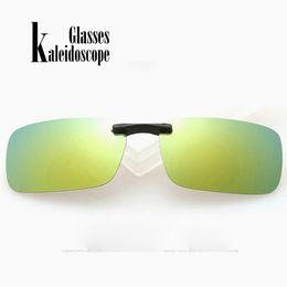 Wholesale kaleidoscope wholesale - Kaleidoscope Glasses Myopic Polarized Clip Men Driving Fishing Eyewears Ultralight Polarizer Sun Glasses Clips Goggle UV400