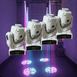 Wholesale Spot Moving Head Light White - Wholesale- 4pcs lot 60W LED Moving Head Spot Light Led DJ Moving Head Beam Lighting Equipment DMX512 60w Gobo Moving Heads with White Shell