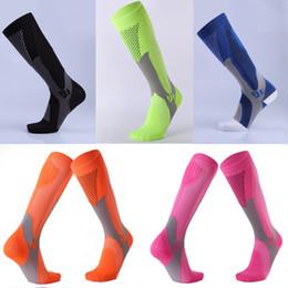 Wholesale Logo Sport Racing - Long Tube Socks Men And Women Marathon Outdoor Sport Socks Adult Running Pressure Sock Compression Socks Custom LOGO FBA Dropshipping G481Q